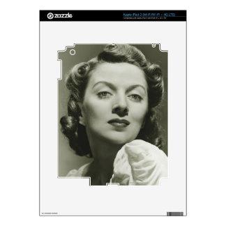 Woman Posing in Studio 2 Decals For iPad 3