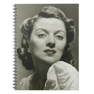 Woman Posing in Studio 2 Spiral Notebook
