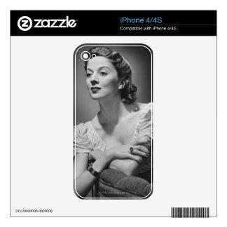 Woman Posing in Studio Skin For The iPhone 4