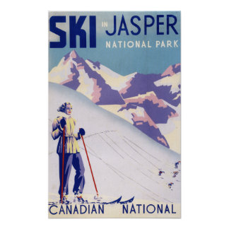 Woman Posing Open Slopes Poster