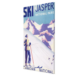 Woman Posing Open Slopes Poster Canvas Print