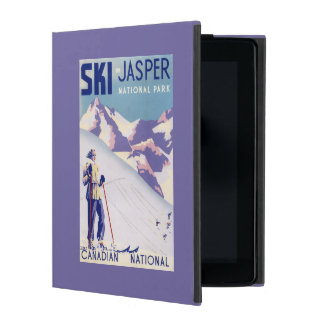 Woman Posing Open Slopes Poster iPad Case