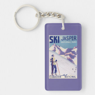 Woman Posing Open Slopes Poster Keychain