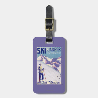Woman Posing Open Slopes Poster Luggage Tags