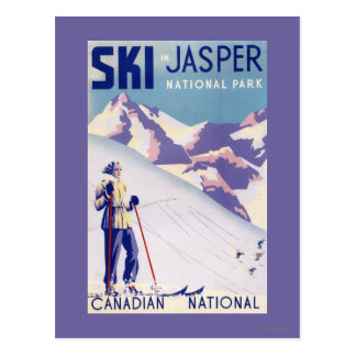 Woman Posing Open Slopes Poster Postcard