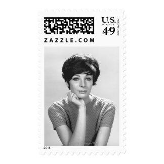 Woman Posing Postage Stamp
