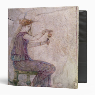 Woman Pouring Perfume into a Phial 3 Ring Binder