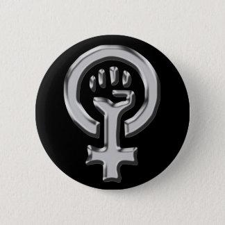 Woman power chrome button
