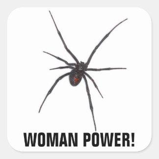 WOMAN POWER! SQUARE STICKER
