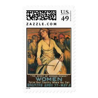 Woman-Power World War 2 Postage