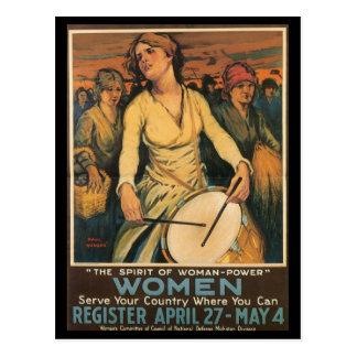 Woman-Power World War II Post Cards