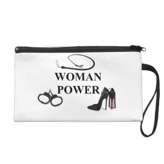 WOMAN POWER WRISTLET PURSE