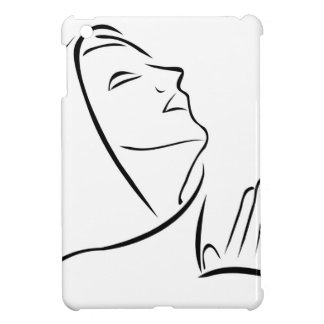 Woman praying looking up at the sky iPad mini cover