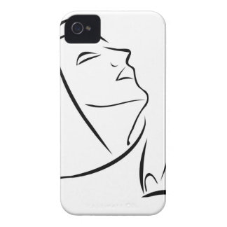 Woman praying looking up at the sky iPhone 4 cover