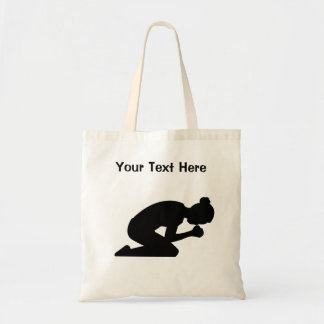 Woman Praying. There is Power in Prayer Tote Bag