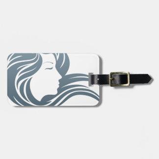Woman Profile Concept Luggage Tag