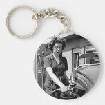 Woman Pumping Gas Vintage Louisville Kentucky Key Chains