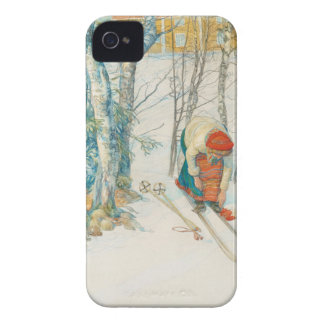 Woman Putting on Skis - Skidloperskan Case-Mate iPhone 4 Case