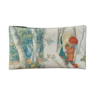 Woman Putting on Skis - Skidloperskan Cosmetic Bag