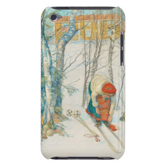 Woman Putting on Skis - Skidloperskan iPod Touch Cover