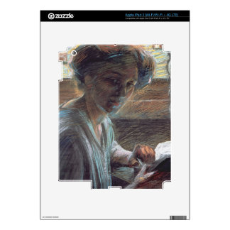 Woman Reading, 1909 (oil on canvas) Skins For iPad 3