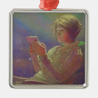 Woman Reading, 1921 Metal Ornament
