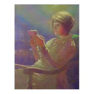 Woman Reading, 1921 Postcard