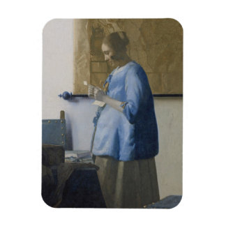 Woman Reading a Letter, c.1662-63 (oil on canvas) Magnet