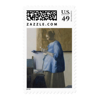 Woman Reading a Letter, c.1662-63 (oil on canvas) Postage Stamps