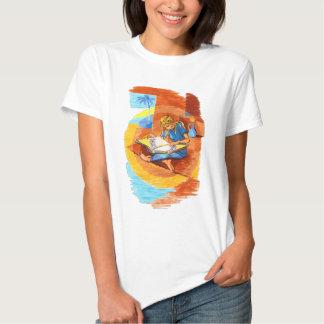Woman Reading Artsy T-shirt