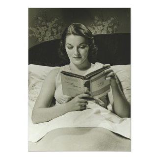 Woman Reading Book Card