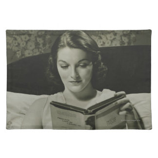 Woman Reading Book Cloth Placemat