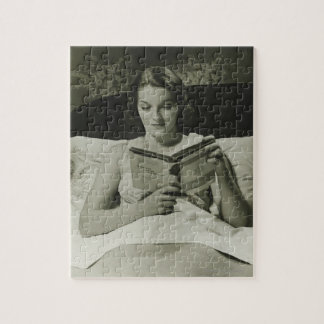 Woman Reading Book Jigsaw Puzzle