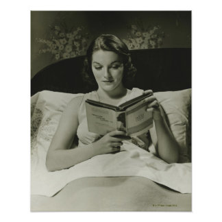 Woman Reading Book Poster