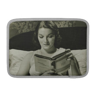Woman Reading Book Sleeves For MacBook Air