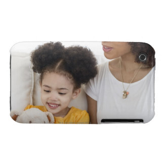 Woman reading book with daughter iPhone 3 Case-Mate case