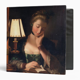 Woman Reading by a Paper-bell Shade, 1766 (oil on 3 Ring Binders