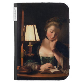 Woman Reading by a Paper-bell Shade, 1766 (oil on Kindle Covers