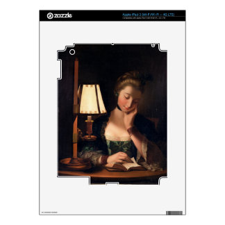 Woman Reading by a Paper-bell Shade, 1766 (oil on Decals For iPad 3