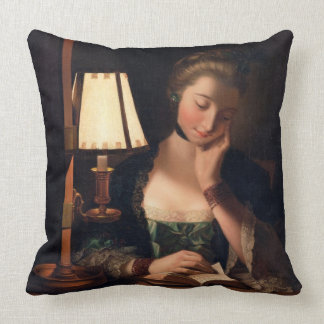 Woman Reading by a Paper-bell Shade, 1766 (oil on Pillows