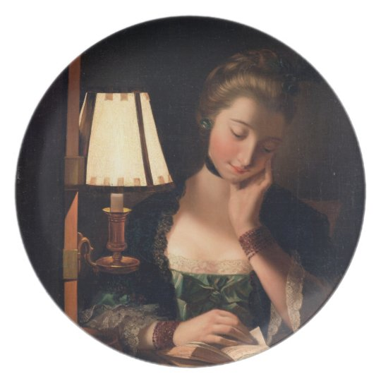 Woman Reading by a Paper-bell Shade, 1766 (oil on Plate