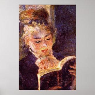 Woman Reading by Pierre Renoir Poster