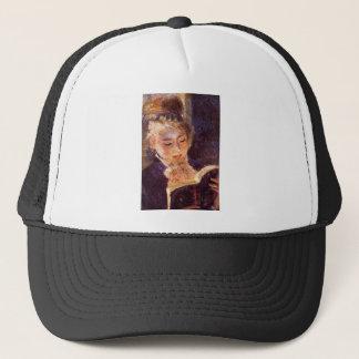 Woman Reading by Pierre Renoir Trucker Hat