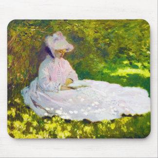 Woman Reading  Claude Monet Mouse Pad