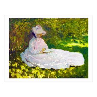 Woman Reading  Claude Monet Postcard