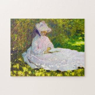 Woman Reading  Claude Monet Jigsaw Puzzles