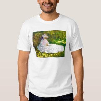 Woman Reading  Claude Monet Tee Shirt
