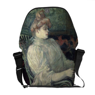 Woman Reading Courier Bag
