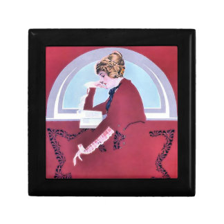 Woman Reading Gift Box