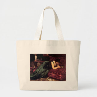 Woman Reading Love letter painting Canvas Bag